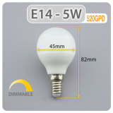 Mini LED Lámpara Globo de 5W 450lm E14 P45 Bombilla LED