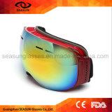 Lunettes antibrouillard de ski de pays en travers de lunettes de ski de vélo de neige de lentille de PC de double couche