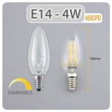 Dimerizável 4W E14 Lustre LED Candle Light