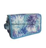 Patroon van het Blad van de Polyester van de manier het Schoonheid Met een laag bedekte Dame Tote Bags, Kosmetische Zakken
