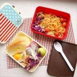 Casella di pranzo di plastica di Bento del contenitore di alimento con Spork all'interno di 20104