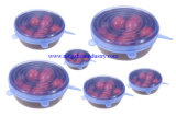 食品等級の鍋およびコップのための適用範囲が広いシリコーンの伸張の吸引の食糧ふた