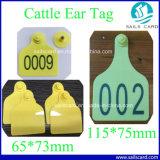 Marque d'oreille chaude de bétail de la vente 115*75mm avec l'impression