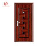 Puertas de acero de la seguridad con color de madera natural del final