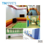 Placa acústica decorativa interior da fibra de poliéster de Retartant da flama para o jardim de infância