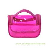 Les femmes imperméabilisent le renivellement d'article de toilette de course de PVC lavant le sac cosmétique