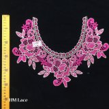 37*26cm Floral or bonneterie vêtements brodés de collier applique, la chape de la Dentelle Collier Rose hme936