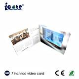Venda quente! O folheto video do LCD de 7 polegadas com alta qualidade, os cartões video vende por atacado