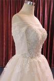 Applique curto da luva que perla o vestido de casamento do vestido nupcial