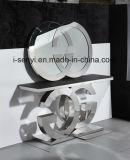 La consola de acero inoxidable de la Mesa Final Tabla Tabla de la lámpara de mesa Muebles de salón