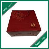 光沢のあるラミネーションの赤いカラー紙袋