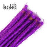 倍は総合的な毛を20インチ紫色カラーDreadlocksの毛終了した