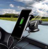 Cargador sin hilos montado coche de carga rápido del sostenedor del cargador del soporte de Qi para el iPhone 8/8plus/X/Galaxy S6/7/8
