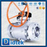 Didtek는 단단한 물개 공 벨브 Preesure 높은 포이 플랜지를 붙였다