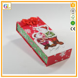 Caixa 2018 de presente do papel do Natal de Retangle (OEM-GL007)