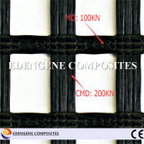 Bitumen-überzogenes Fiberglas Geogrid (strickende Verzerrung) für Asphalt-Testblatt-Verstärkung