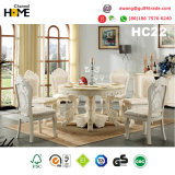 Tabela de jantar de madeira do estilo europeu com mármore (HC20)