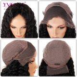 흑인 여성을%s 꼬부라진 자연적인 색깔 Virgin 레이스 정면 가발