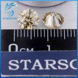 1.5 캐럿 형식 보석을%s 둥근 H&a 커트 Champagne 다채로운 Moissanite 다이아몬드