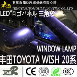Lámpara del panel auto de la insignia de la luz de la ventana de coche del LED para el deseo 20 10series de Toyota