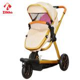 Carro de bebê rodado da paisagem três elevados novos do projeto