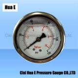 60mmの振動証拠液体によって満たされる圧力メートルの背部接続