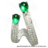 2017 녹색 돌 (E6819)를 가진 새로운 디자인 귀걸이