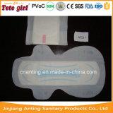 Nuit utilisée et garniture menstruelle pure matérielle de tissu de coton de coton