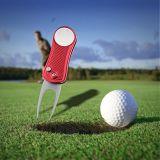 Тело нержавеющей стали метки тангажа отметки шара для игры в гольф инструмента ремонта Divot гольфа складное с магнитным инструментом Switchblade отметки шарика для чистки паза