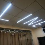 알루미늄 6063 IP44 LED 선형 중계 이음새가 없는 빛
