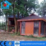 Casa prefabricada del chalet del hotel de las vacaciones del nuevo acero con el panel de emparedado de madera del grano