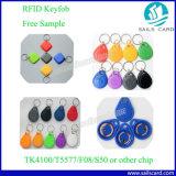 Desfire EV1 4k14443ISO RFID Keyfobs un sistema de alarma para