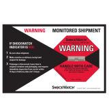 Escritura de la etiqueta adhesiva del impacto del Shockwatch del monitor del choque de Stciker