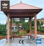 Compuesto de plástico resistente de madera pabellón al aire libre