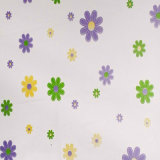 Удалите цветы душ PEVA шторки для ванной комнаты