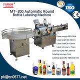 Máquina de etiquetas de alta velocidade automática do frasco redondo de Mt-200p com impressora