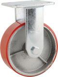Hochleistungstyp PU auf Roheisen-Kern-Rad-Fußrolle