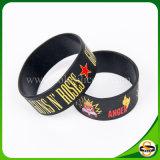 Weihnachtskundenspezifisches Firmenzeichen-unterschiedliches Farben-und Größen-Silikon-Armband