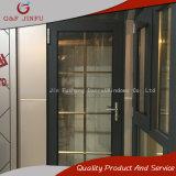 Puerta de aluminio del cuarto de baño del metal de la puerta francesa con diseño de la parrilla