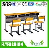 의자 (SF-28D)를 가진 학교 가구 목제 두 배 책상