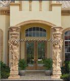 Colonna/colonna romane di pietra naturali per la decorazione della costruzione