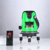 5 línea pista de la luz verde que nivela el nivel rotatorio del laser