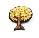 Rosca de Prata Patches bordados feitos à mão com a Índia seda