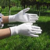 Guanti di sicurezza del lavoro del rivestimento della palma dell'unità di elaborazione del Knit della macchina del nylon/poliestere del calibro di bianco 13