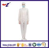 Antielectroは白いファブリック人のクリーニングの衣服および生産の研修会のための青い洗濯できるESDの仕事着を縞で飾る