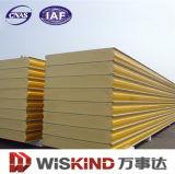 materiale da costruzione del pannello a sandwich di spessore PU/Polyurethane di 30-200mm