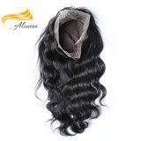Ningunas pelucas llenas superiores de seda del cordón del pelo humano del enredo