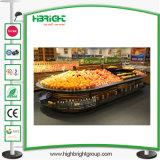 Design Ilha Supermercado Acrílico Racks de vegetais