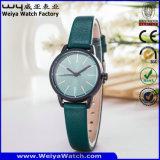 OEM van het horloge de Toevallige Horloges van de Vrouwen van de Gift Riem van de Bedrijfs van het Leer (wy-122C)