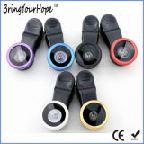 ユニバーサルクリップ3in1電話カメラのFisheyeの広いマクロレンズ(XH-LF-001)